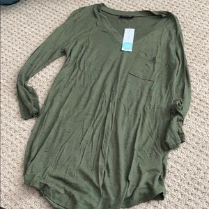 NWT paper moon olive tee
